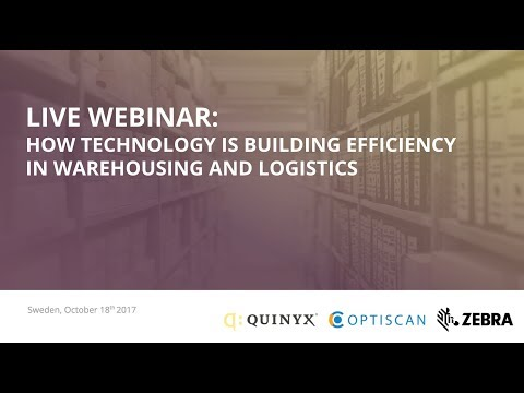 Webinar: How technology is building efficiency in warehousing and logistics
