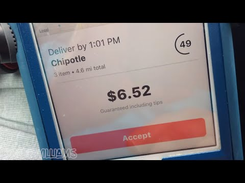 Delivering For DoorDash At LUNCH (TOTAL EARNINGS / PAY)