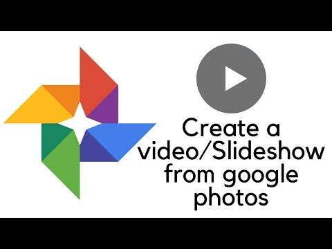 How to create a slideshow using google photos