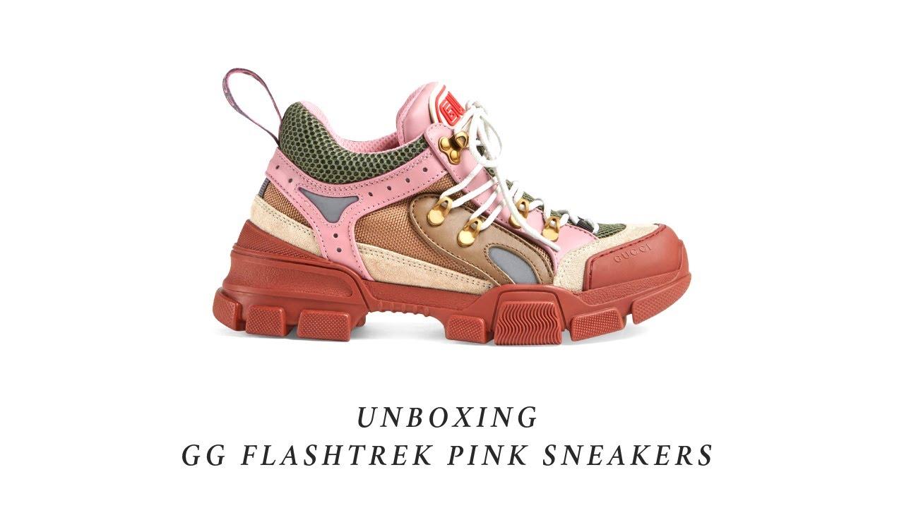 Gucci Flashtrek Pink Sneaker Unboxing