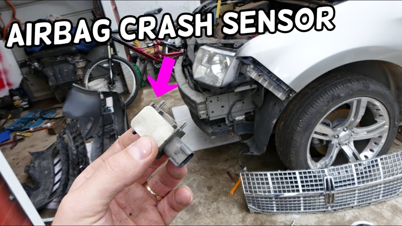FRONT AIRBAG CRASH SENSOR LOCATION REPLACEMENT LINCOLN MKX
