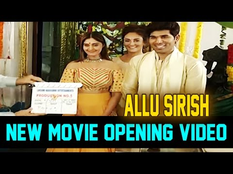 Allu Sirish New Movie Opening Video | Surabhi , Seerath Kapoor | Avasarala Srinivas