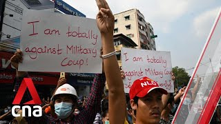 Thousands protest in Yangon against Myanmar military coup