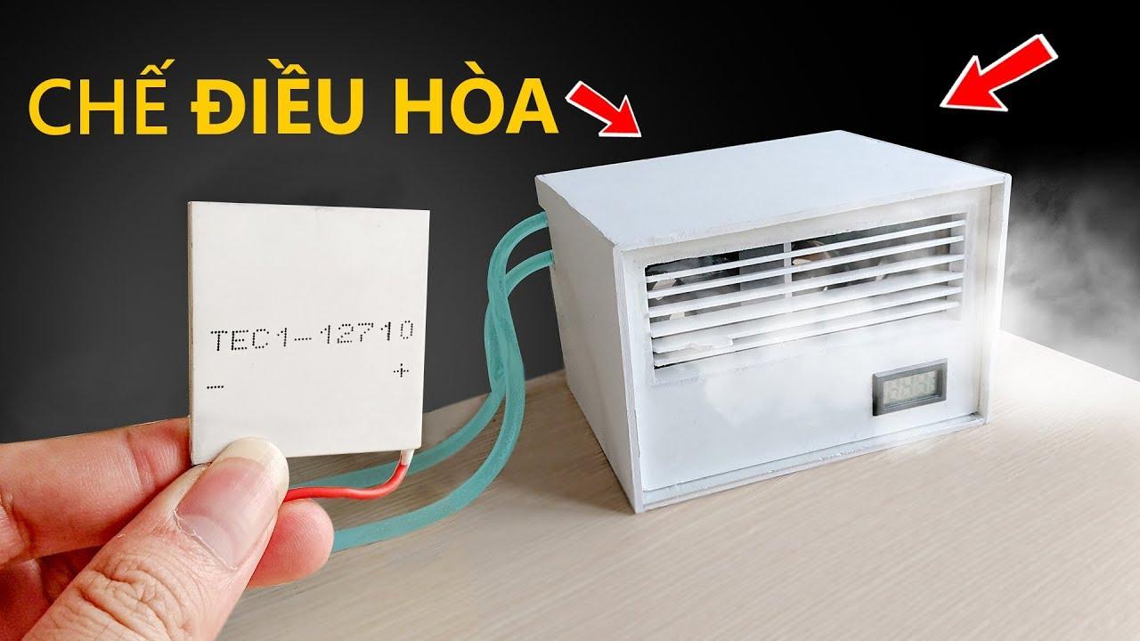 Chế quạt điều hòa từ sò nóng lạnh TEC1