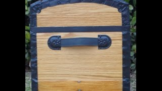 How To Replace Leather Hadles On A Trunk - Part 1 - Antique Trunks
