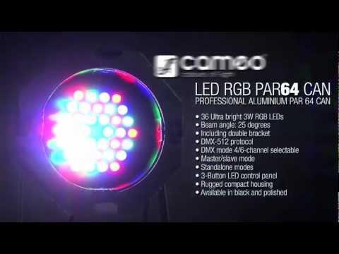 Cameo Light PAR 64 CAN - 36 x 3 W LED PAR Can RGB