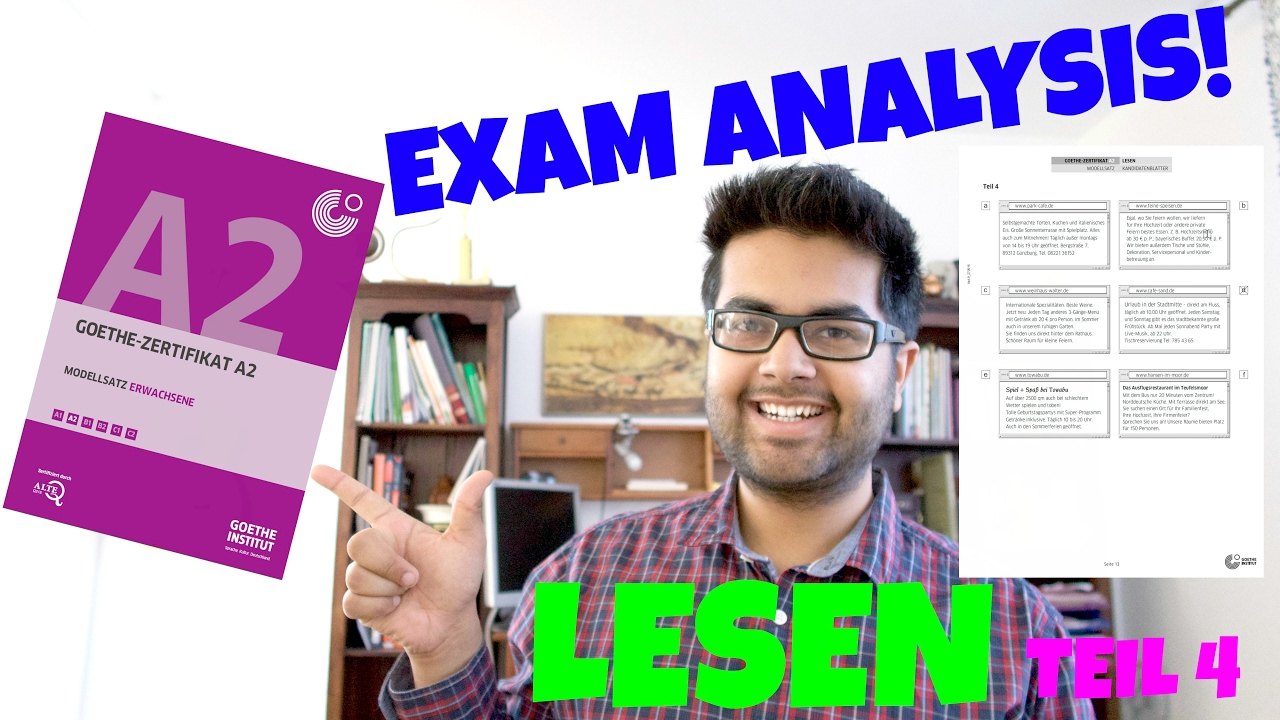 New Goethe Zertifikat A2 Exam Analysis And Tips 14 Lesen Teil