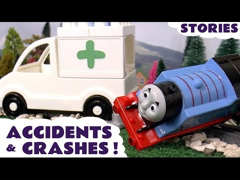 Thomas and Friends Accidents Crashes & Rescues with Peppa Pig Play Doh Diggin Rigs and Ant Man