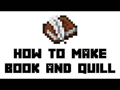Minecraft Survival: How To Make Book And Quill