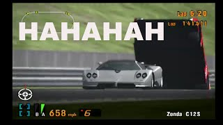 Gran Turismo 3 Like the Wind! Seeing Giving the AI MASSIVE BOOSTS OF SPEED!