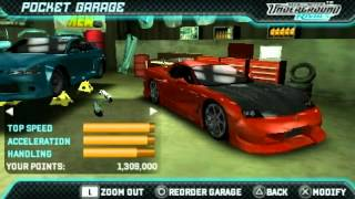 Need For Speed Underground Rivals All Cars