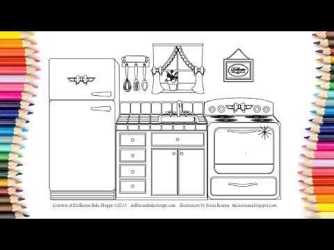 Printable coloring pages kitchen For Kids,Learn Colors For Baby