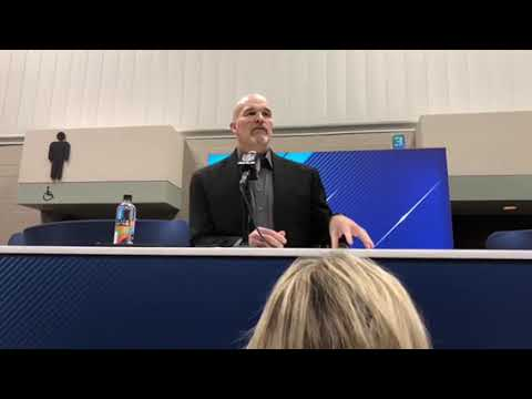 Dan Quinn Atlanta Falcons Head Coach Interview At NFL Combine 2018