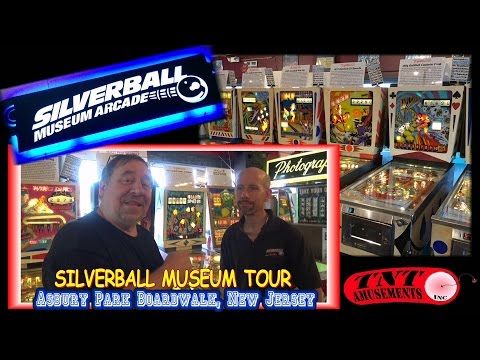 #738 Tour of SILVERBALL MUSEUM on the Boardwalk in Asbury Pa