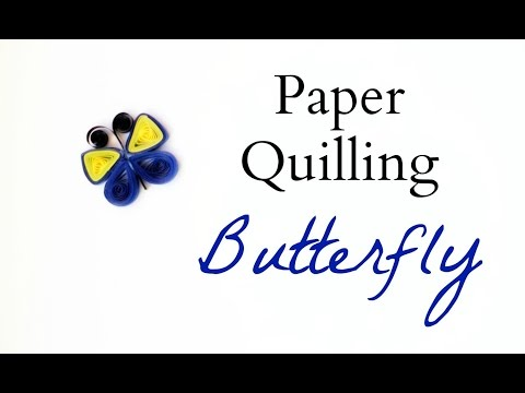 Paper Quilling Butterfly - Simple Pattern