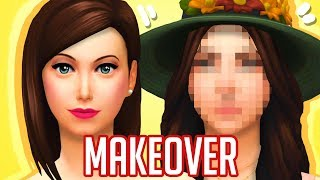 GIVING MY FIRST EVER SIM AN EXTREME MAKEOVER | THE SIMS 4 CAS