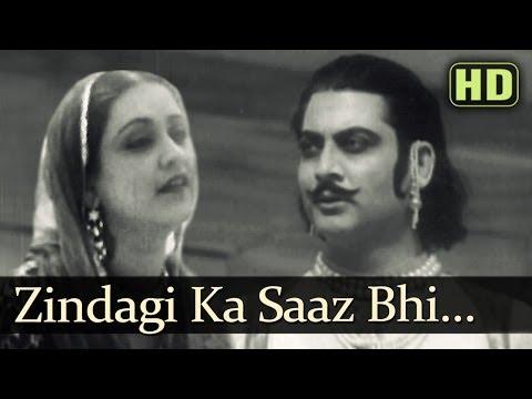 Zindagi Ka Saaz Bhi HD Pukar Songs  Sohrab Modi  Sheela  Naseem Bano