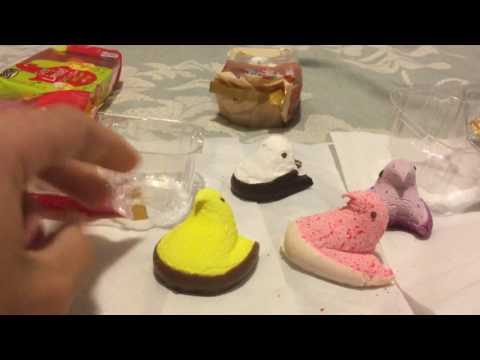 Marshmallow peeps review (six different flavors)