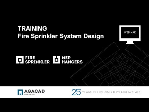 AGA CAD Training - Fire Sprinkler System Design in Revit (NFPA standard)