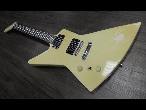 Diy guitar kit left handed explorer glow in the dark youtube solutioingenieria Image collections
