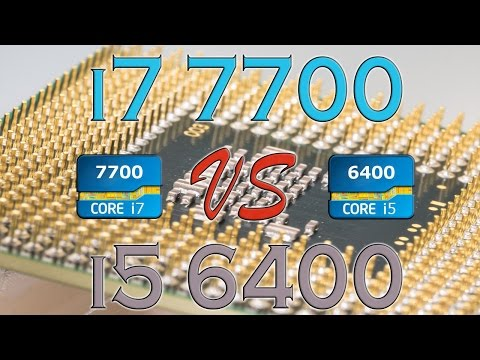 i7 7700 vs i5 6400 - BENCHMARKS / GAMING TESTS REVIEW AND COMPARISON / Kaby Lake Skylake