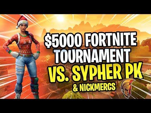 $5000 Fortnite Tournament - SypherPK & Nickmercs vs. Thiefs & Typical Gamer