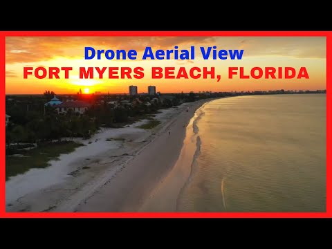 Aerial View Fort Myers Beach And Red Coconut RV Resort