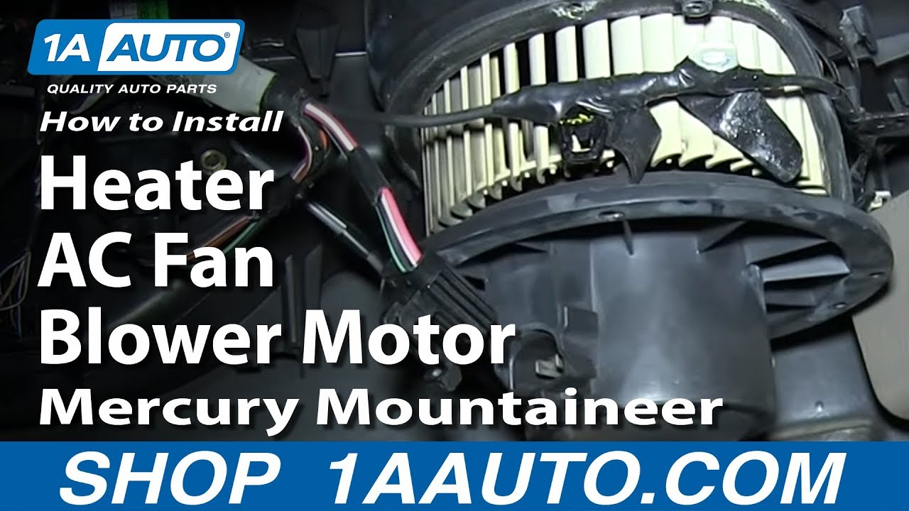 How To Install Replace Heater Ac Fan Blower Motor 2002 05 Mercury 2006 Chrysler Wiring Mountaineer Youtube