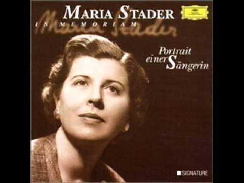 Maria Stader - Mendelssohn Lieder