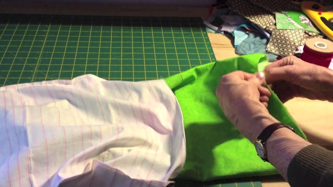 Come cucire un sacchetto con i laccetti drawstring bag for Fermaporta fai da te in stoffa