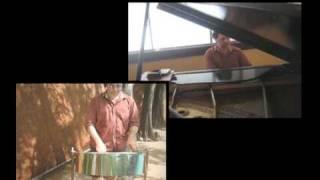 Scrabble TV game show theme (woolery 1984 version) steel pan & piano duet