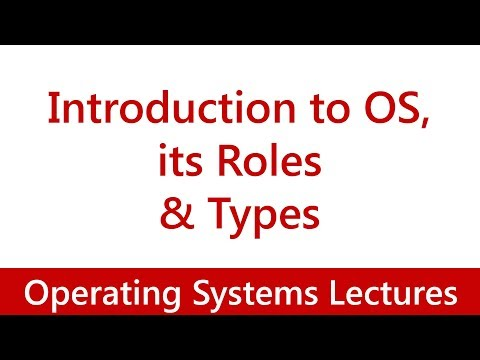 Operating System #01 Introduction to OS, its Roles & Types