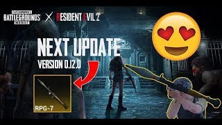 PUBG Mobile Next Update 0.12.0, New Zombie, RPG, Nitrogen Grenade and Falcon