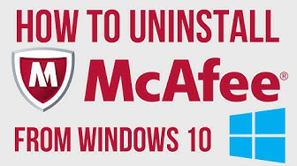 ✔ BEST WAY To UnInstall McAfee from Windows 10