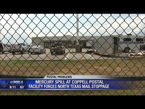 Mercury Spill At Coppell US Postal Service Center Halts Mail Service