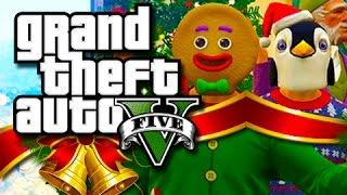GTA 5 Funny Moments! - The Christmas Slaughter!! (GTA 5 Festive Skits!)