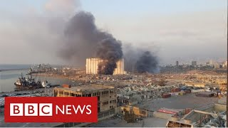 Massive explosion rips through Lebanese capital Beirut - BBC News