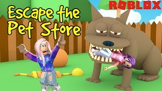 Roblox: Escape the Pet Store Obby! / We We're Eaten By A Dog! 🐶 / Secret Hidden Badge!