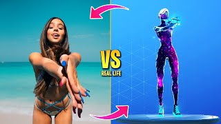 FORTNITE DANCES IN REAL LIFE (Verve, Bhangra Boogie, Out West, The Renegade)