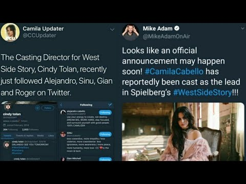 Camila Cabello in West Side Storycamren indirect Aug 9 2018