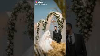 عروسه في احلى طرحه