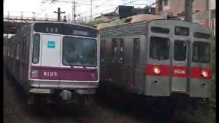東京メトロ8000系と東急8500系(8606F)