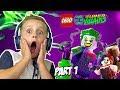 LEGO DC Super-Villains Gameplay Part 1   Joker and Harley Quinn Escape   KIDCITY