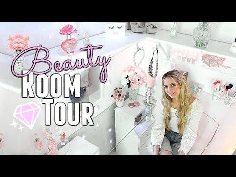 BEAUTY ROOM TOUR 2018! 5' x 4' CLOSET turned BEAUTY ROOM!! Room Tour 2018   MAKEUP ROOM TOUR!