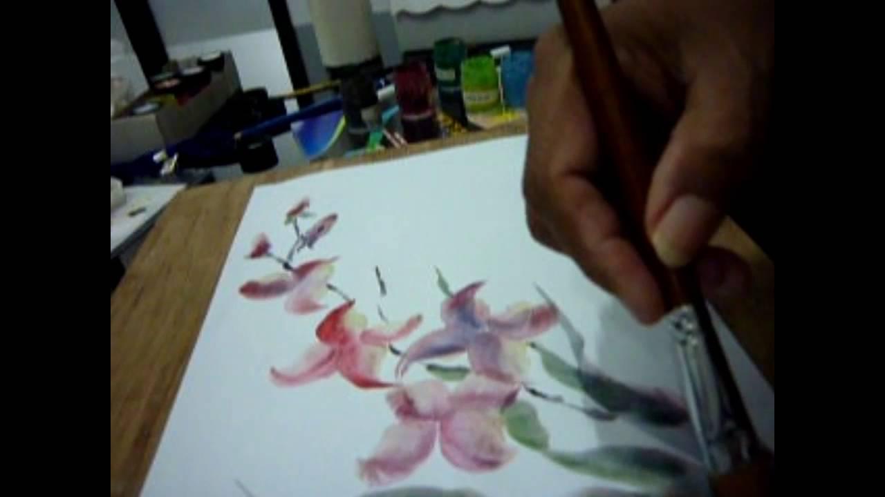 Menggambar Bunga Anggrek Youtube