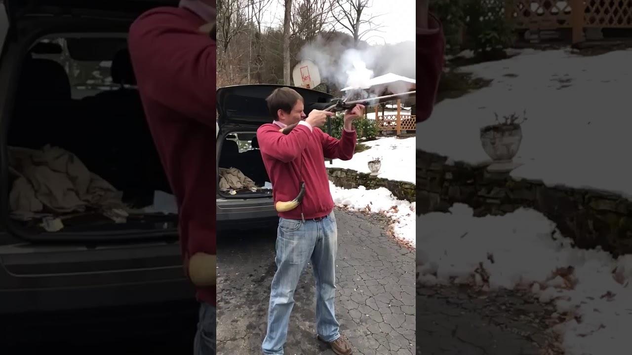.62 caliber Pennsylvania Style Flintlock Fowler (shotgun) #shorts