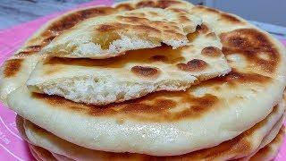МЯГКИЕ И ВОЗДУШНЫЕ  Дрожжевые Лепешки Базлама – вместо хлеба. На сковороде