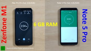 Asus Zenfone Max Pro M1 (6GB RAM) vs Redmi Note 5 Pro (6GB RAM) Speed & Performance Test