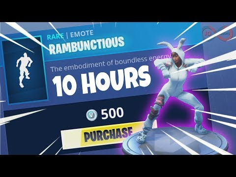 Fortnite - Rambunctious Emote 10 HOURS