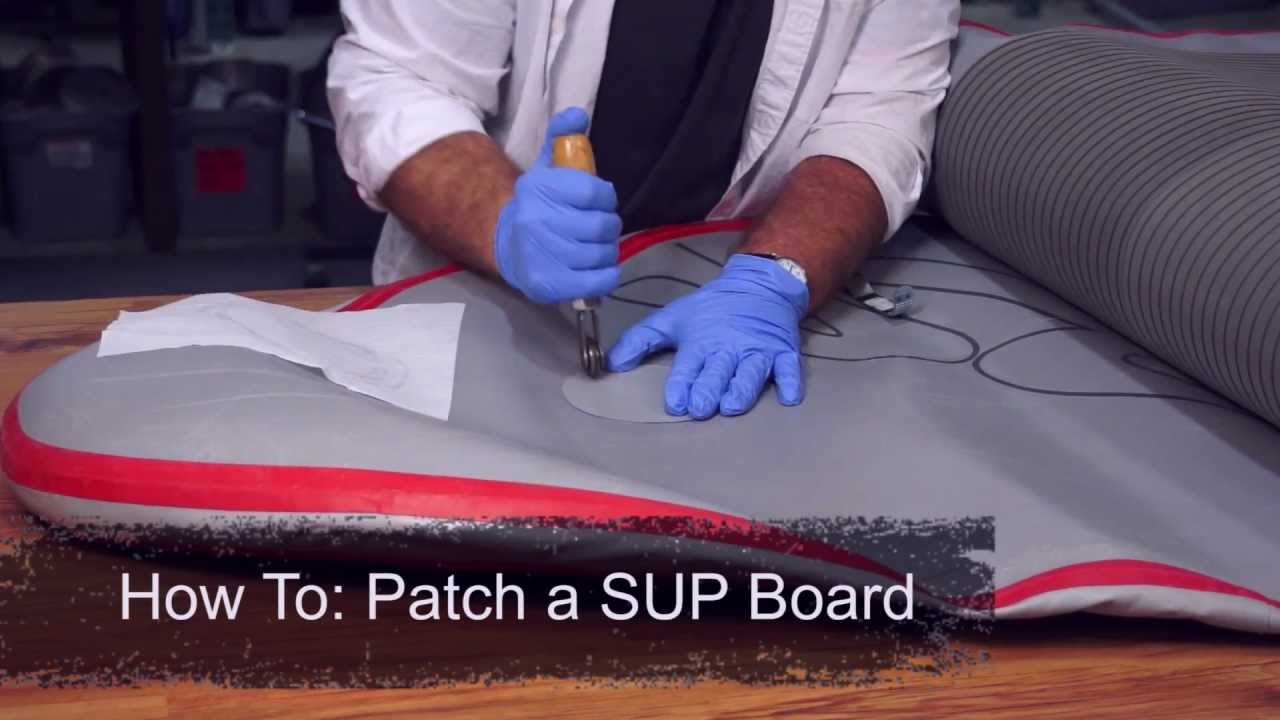 59caa0458 How To  Patch an Inflatable SUP Board - YouTube